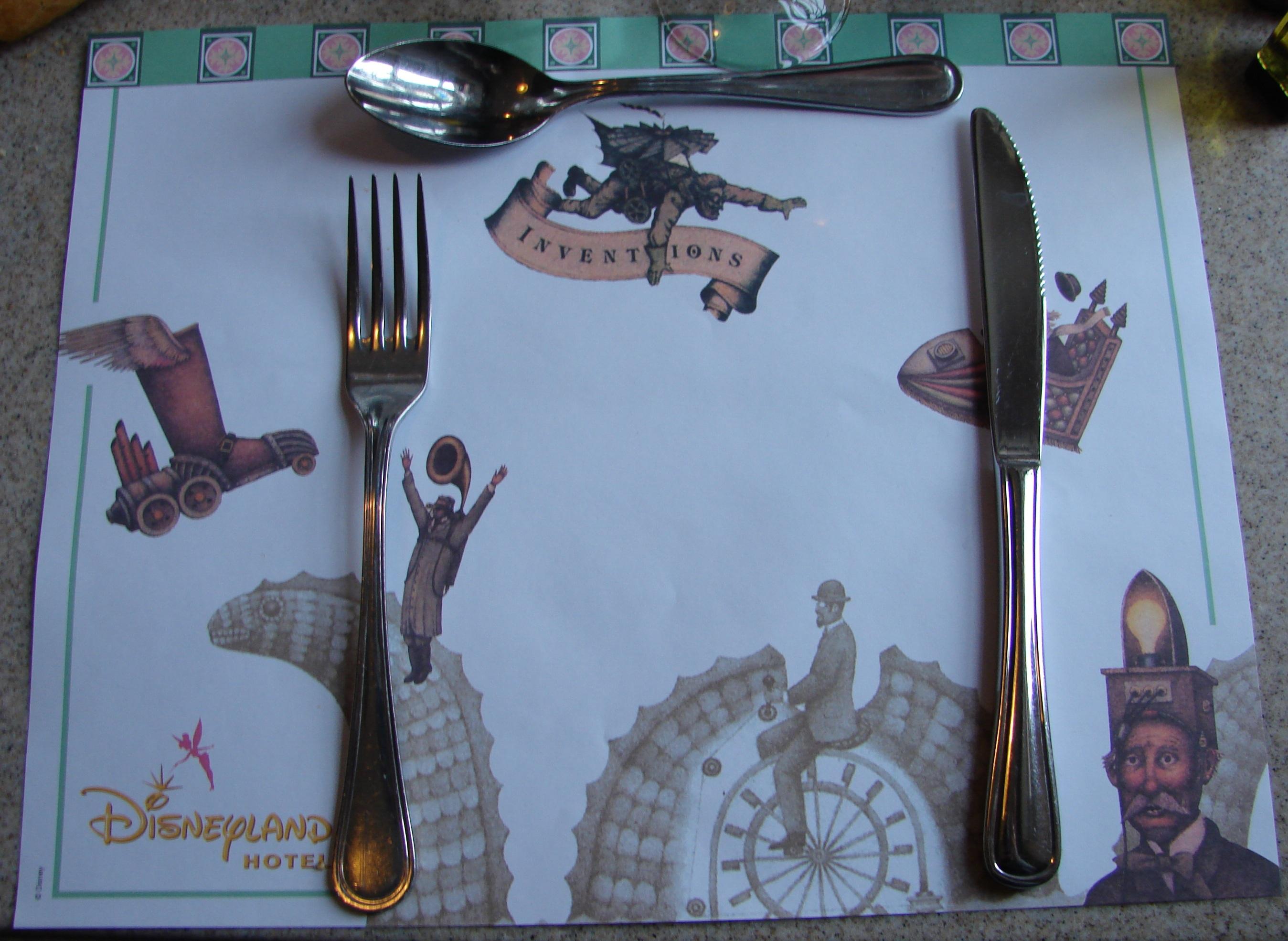 Restaurant inventions disneyland hotel disneyland paris for Set de table paris
