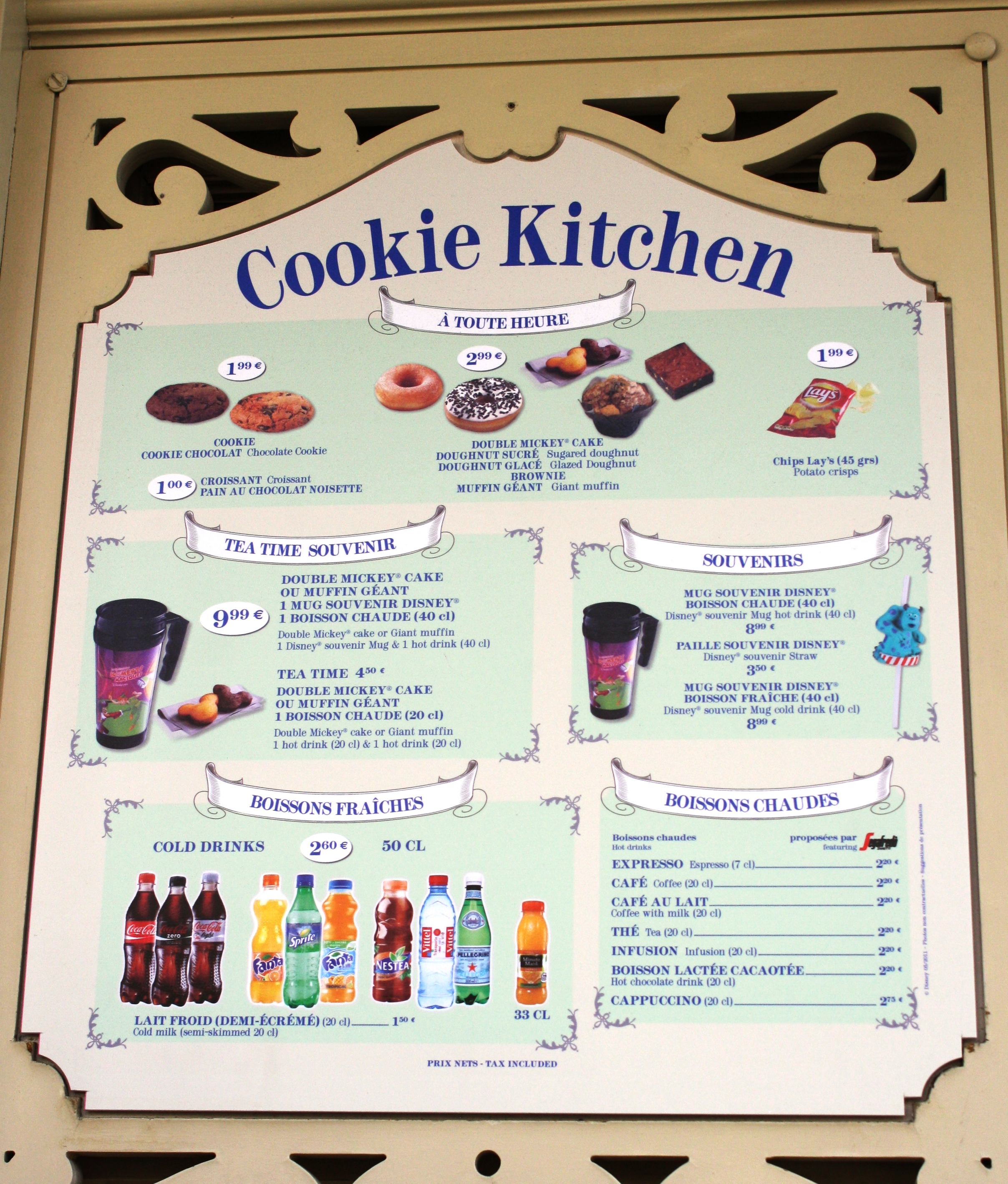 Cookie kitchen disneyland paris parce que j 39 adore for H kitchen paris menu