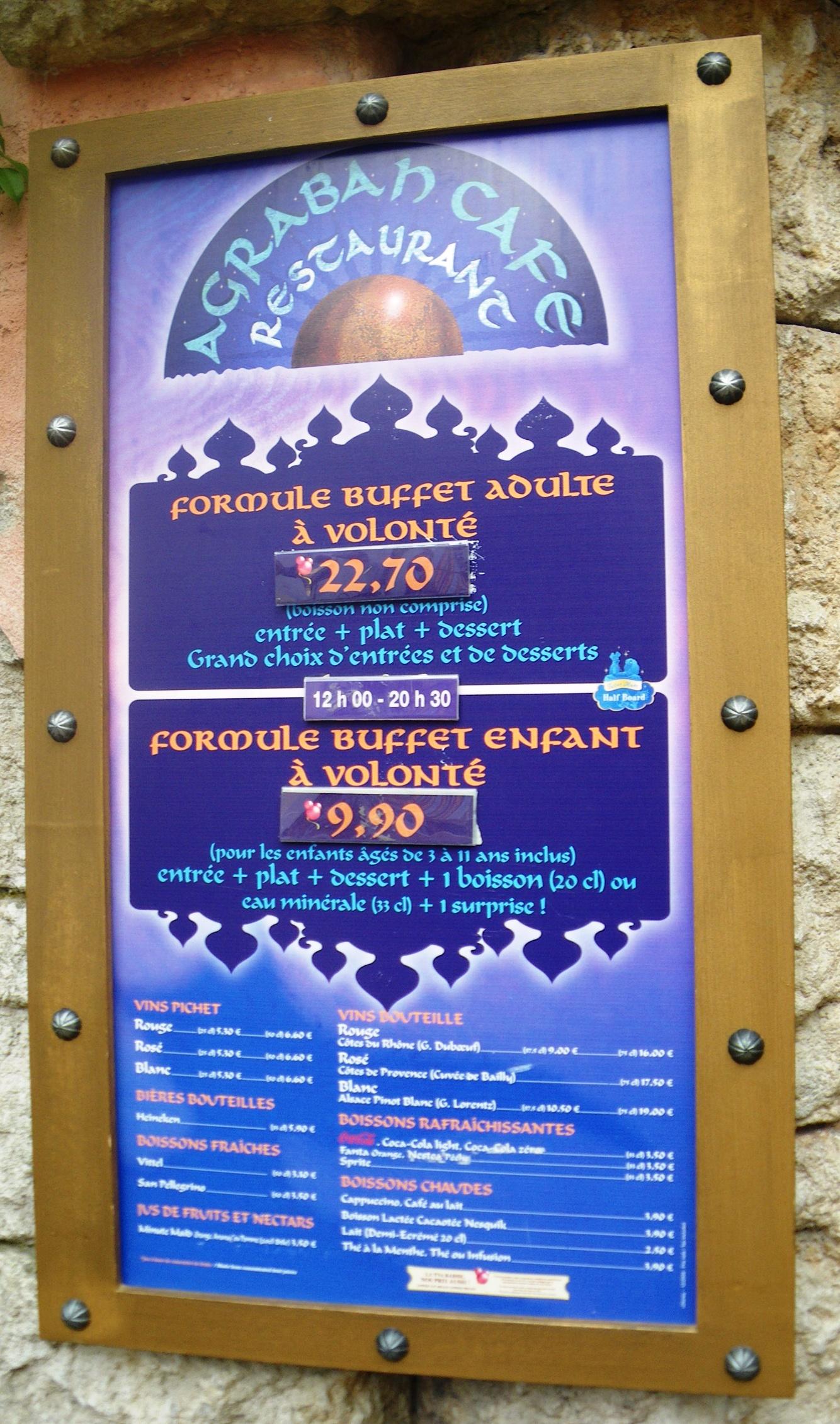 Agrabah Caf 233 Disneyland Paris Parce Que J Adore Critiquer
