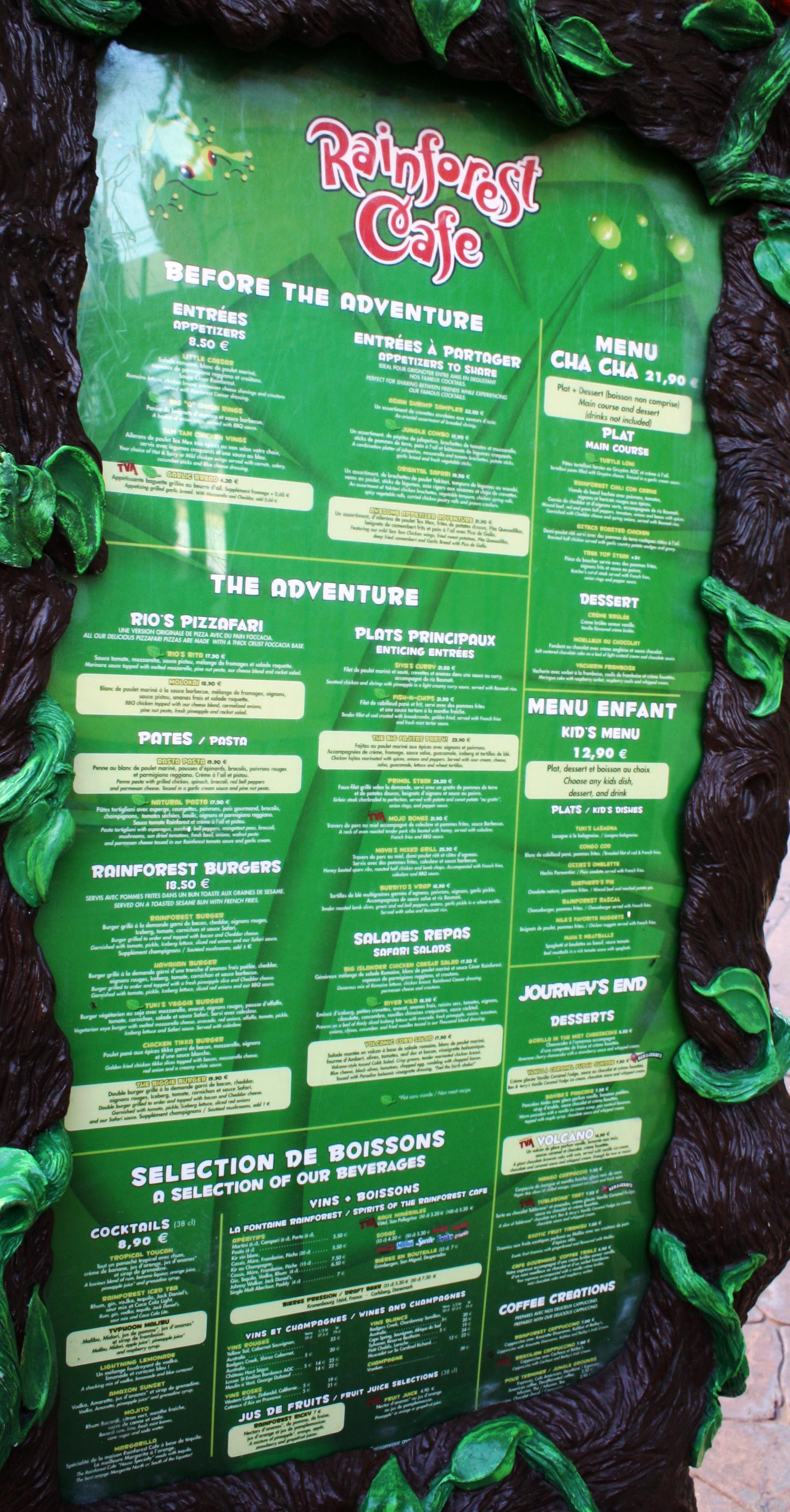 Rainforest Caf 233 Disney Village Disneyland Paris Parce