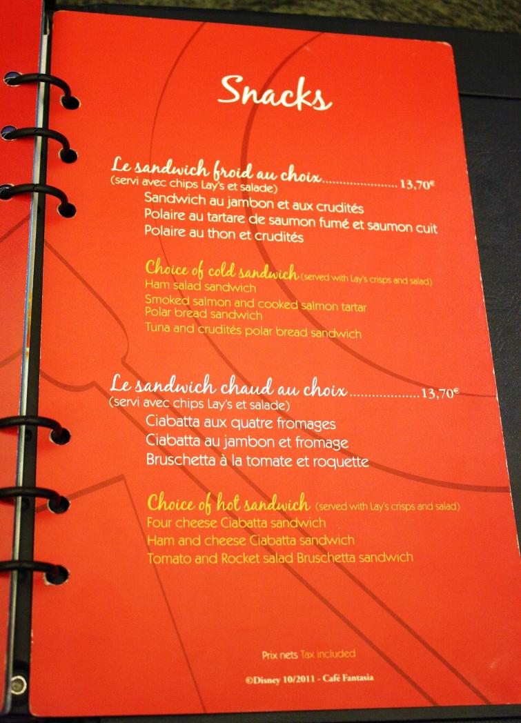 Cafe Creme Paris Carte