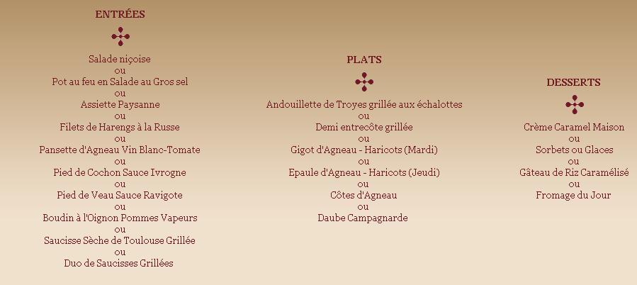 Obligation Prix Sur Menu Exterieur Restaurant