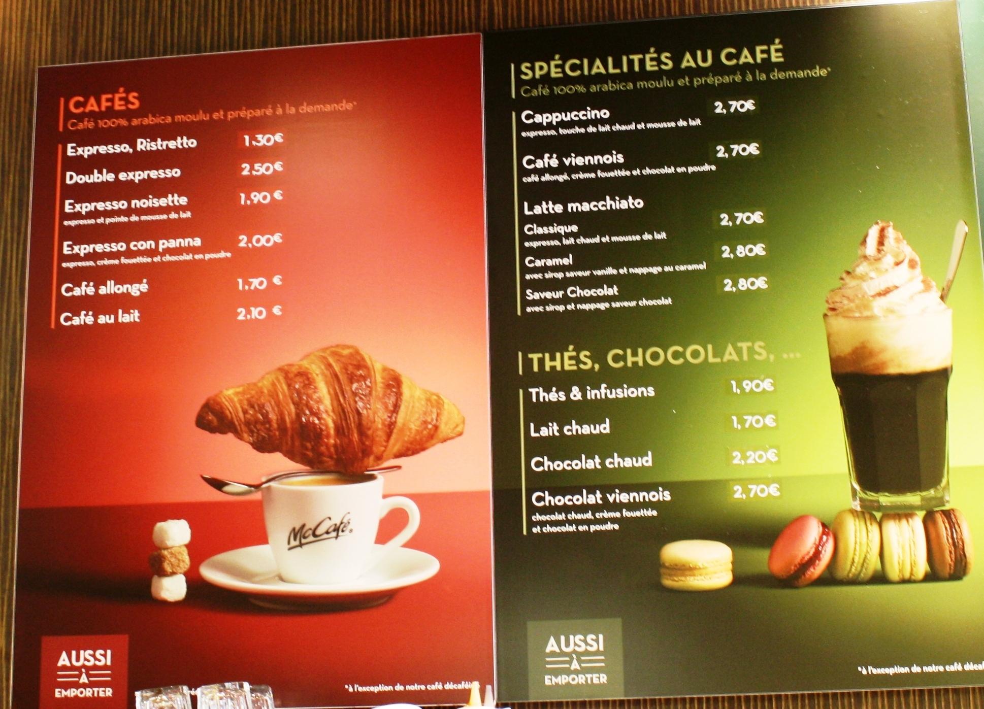 Le Bon Cafe Menu