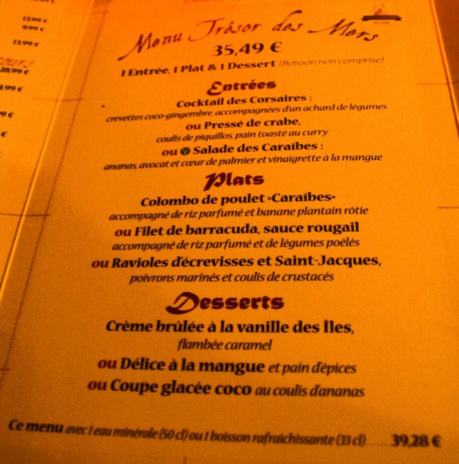 The Buffalo Restaurant Menu