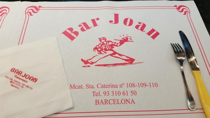 Bar Joan, Barcelone