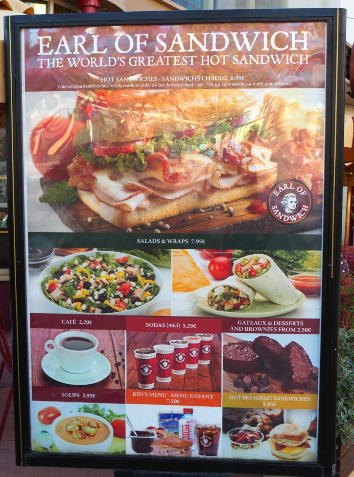 Earl of Sandwich – n°6, Disney Village, Disneyland Paris