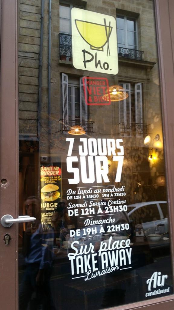 Pho, Bordeaux